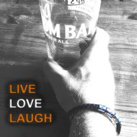 Live Love Laugh Inspirational Leather Bracelet